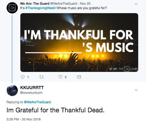 whose music are you thankful for?