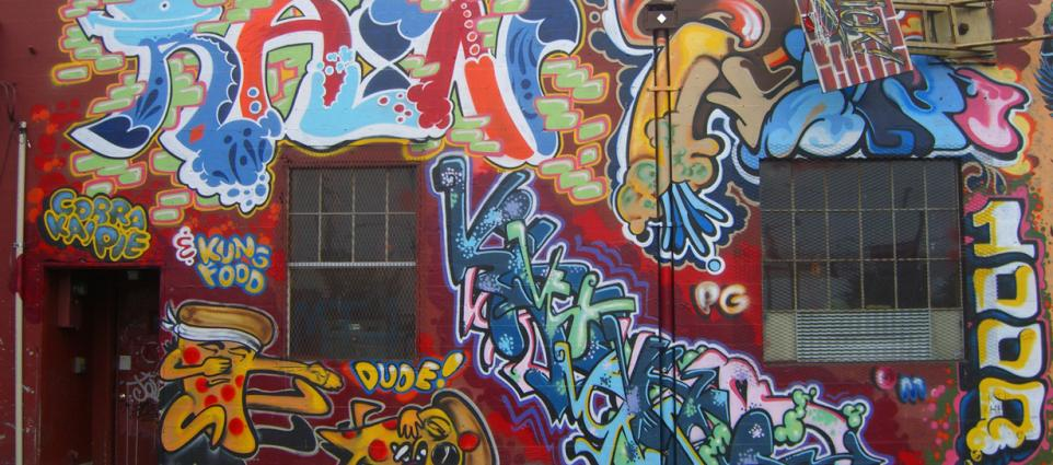 """""""Old School Pizzaria Mural"""" by Jason Taellious"""